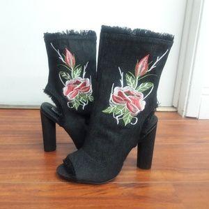Cape Robbin peep toe boots